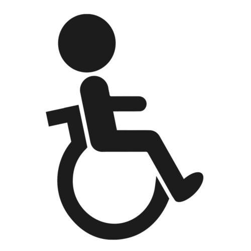 Handicaptoilet - Dørfolie, pakke med 5 stk.-0