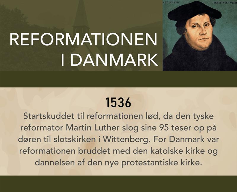 Historiske begivenheder, 1 stk. - Vægfolie-Reformationen i Danmark-0