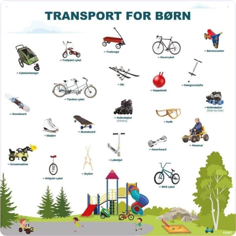 Transport for børn - Læringstavle-0