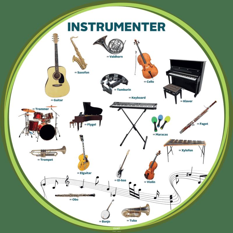 Instrumenter - Læringstavle-29025