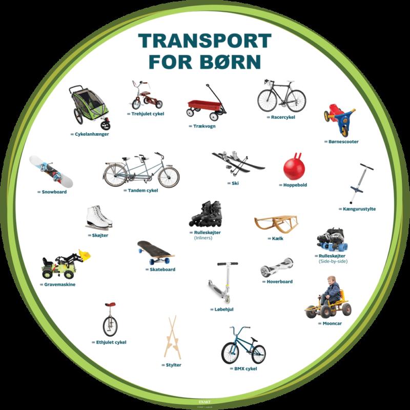 Transport for børn, Ø100 cm - Læringstavle-0