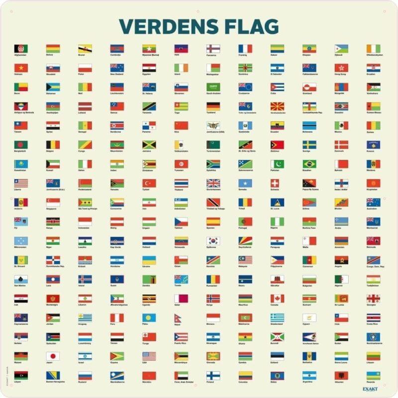 Verdens flag - Skilteplade-0