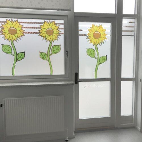 Dusted vinduesfolie med udskæring og print-0
