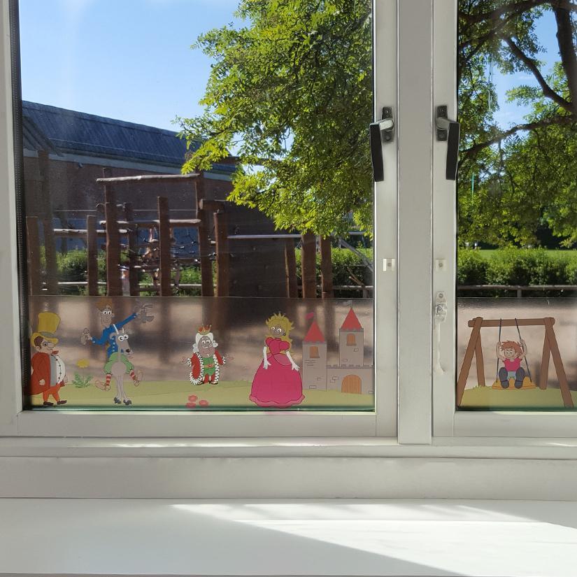 Klar vinduesfolie med print-28503