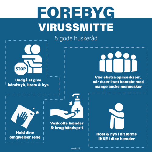 Forebyg virussmitte - Skilteplade-0