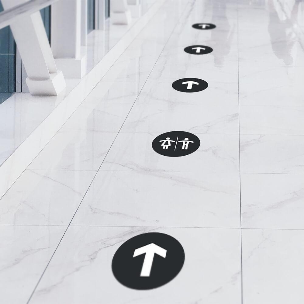 Wayfinding til toilet - Pile og piktogrammer, 10 stk.-22453