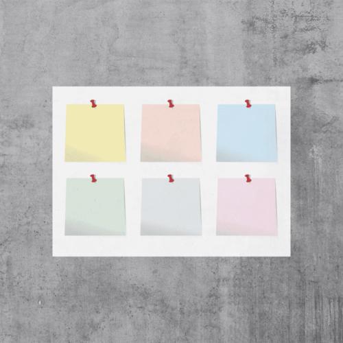 Whiteboardfolie med print-0